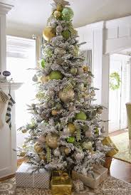 Flocked Slim Xmas Trees by 17 Best Images About Christmas Elegance On Pinterest Christmas
