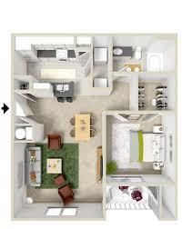 appartement avec une chambre le plan maison d un appartement une pièce 55 idées