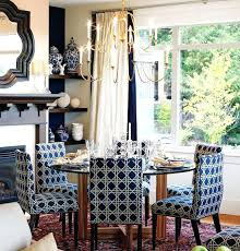 Blue Dining Room Chairs Incredible Upholstered For Bold
