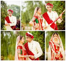 Hindu Indian Wedding Bride Groom Portrait Turban Sword Sherwani Sari Jewelry Red Green Gold Ivory