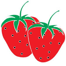 Strawberry clipart black and white clipart image 9