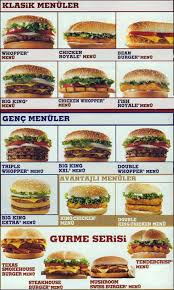 Sofa King Burger Menu by Burger King Menu Menu For Burger King Levent Merkez Istanbul