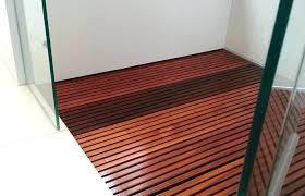 Teak Wood Flooring For Bathrooms Wooden Shower Floor Bathroom Tile Medium Size Insert