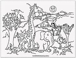 Zoo Animals Coloring Activity Printable