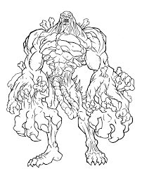 Zombie Coloring Pages Monster