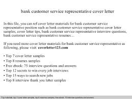Sample Cover Letter Customer Service Representative Bank