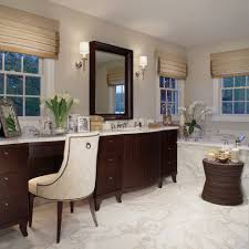 Bathroom Vanities With Matching Makeup Area by Chair For Vanity In Bathroom Freshen Up In Your Master Bath With