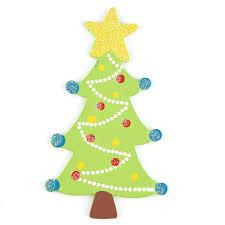 Finished Christmas Tree Glittered Wood Cutout