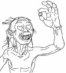 Gollum Coloring Pages
