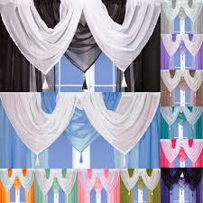 Blue Crushed Voile Curtains by Mocha Curtains Ebay