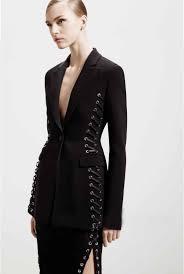 cluxercer brand fashion blazer women suit jacket ladies eyelet