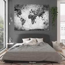 wandbild weltkarte grau ab 100 x 75 cm querformat picoration