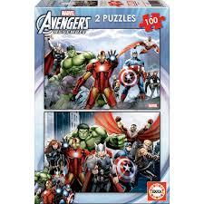 Comprar Puzzles Vengadores Avengers Marvel 2x100