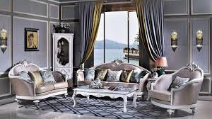 komplettes set garnitur sofa tisch beistelltisch vitrine garnituren barock neu