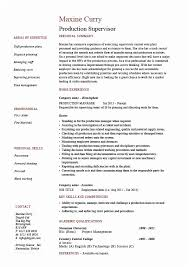 Manufacturing Supervisor Resume Production Sample Example Template Of Manager