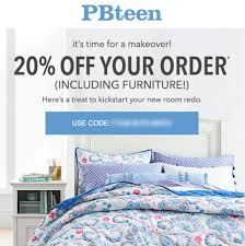 20% Off POTTERY BARN TEEN Promo Coupon Code OnIine Exp 11/14 ...