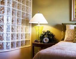 Glass Block Wall In Bedroom