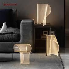 nordic designer led acryl lichtleiter tisch le hause
