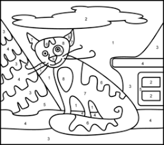 Full Size Of Coloring Pagecat Color By Number Trendy Cat Easy