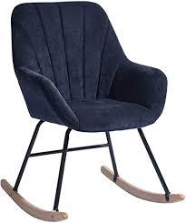 de homycasa stoff schaukelstuhl sessel modern stuhl