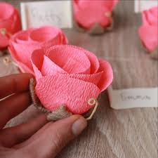 Wedding Flower Place Name Card Holders With Cards
