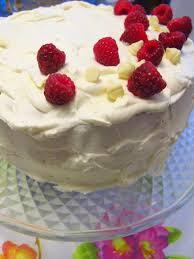 White Chocolate Raspberry Birthday Cake