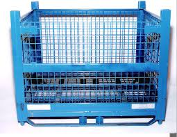 100 Steel Shipping Crates Custom Pallets Bins Wire Containers