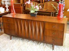 American Of Martinsville Bedroom Set by Small Walnut Buffet By American Of Martinsville Mid Century