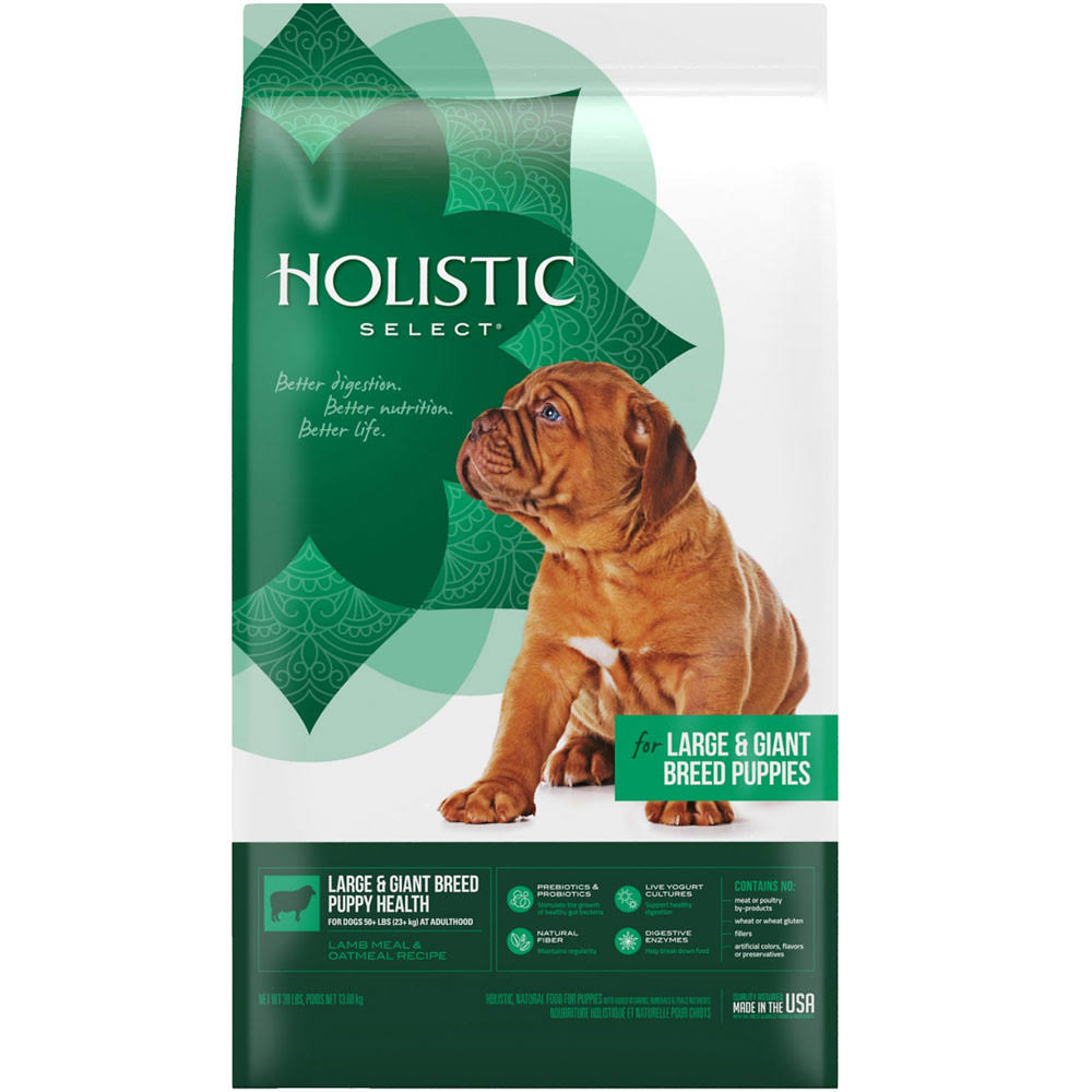 Holistic Select Natural Dry Large Breed Puppy Food, Lamb & Oatmeal Recipe