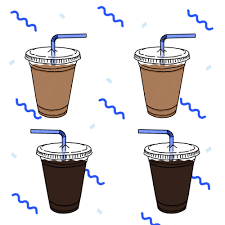 Iced Coffee Illustration GIF On GIFER