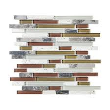 bliss iceland glass linear blend mosaics tile in style store