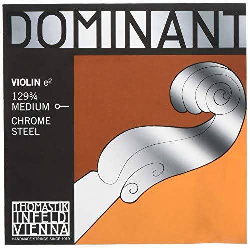 Thomastik-Infeld 129.34 Dominant Violin String - Single E String, 129, 3/4 Size, Chrome Steel, Ball End