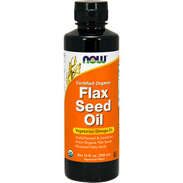 Now Foods Certified Organic Flax Seed Oil - 12oz