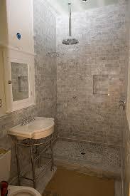 marble subway tile shower offering the sense of elegance homesfeed