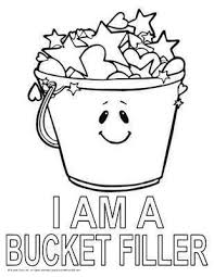 I AM A BUCKET FILLER Coloring Page Bucketfilling