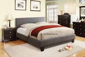 CM7008T Winn Park Gray Finish Platform Twin Size Bed Frame