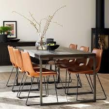moderne design essgruppe set kunstlederstühle braun