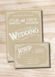 VINTAGE SCROLL KRAFT Vintage Rustic Wedding Invitation Response