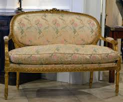 canape louis xvi an louis xvi style carved gilt wood canape settee