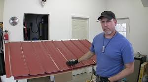 how to build a pole barn pt 7 metal roofing youtube