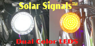 Harley Davidson Light Fixtures by Solar Signals Motorcycle Front White Amber Led Turn Signal Clusters