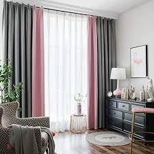 nclon zweifarbig splice vorhänge gardinen baumwolle hanf