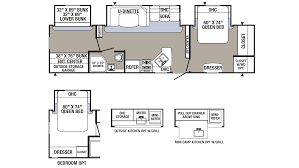 Travel Trailer Floor Plans With Bunk Beds by 2018 Palomino Puma 32rbfq Model