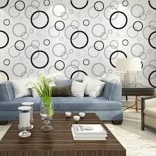 haokhome schwarz weiß grün geometrische moderne tapete vlies kreis tapeten für hause wanddekoration wohnzimmer wallpaper