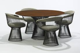 384: WARREN PLATNER, Dining Table, Model #3716T And Four Dining ... Four Ding Chairs In Stain Beech Teak Upholstered With Black Leatherette Art Nouveau Or Deco Shield Back Antique Ding Chairs Set Of Vintage Four By Helge Sibast For Early 19th Century Round Bdmeier Table Moes Home Collection Calvin Sadlers Johannes Andersen Denmark Circa 1950 Victorian Walnut The Shop Fashionchrystal Setfour Includedtransparent 5 Pc Counter Height Room Setpub And 4 East West Fniture Mid Modern Lawrence Peabody
