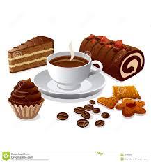 kaffee und kuchen stock abbildung illustration kaffee