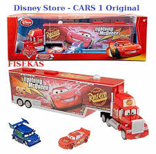 100 Cars Mack Truck Playset XL 2 Ft Disney Store Semi Car Carrier DJ