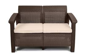 Amazon Patio Lounge Cushions amazon com keter corfu love seat all weather outdoor patio