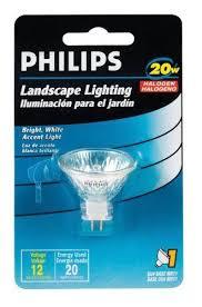 philips 20w halogen landscape light bulb 12v flood reflector mr11