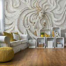 details zu design tapete fototapete für wohnzimmer skulptur flachrelief medusa frau